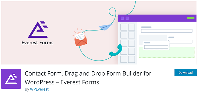Everest Forms Simple Drag and Drop Form Plugin