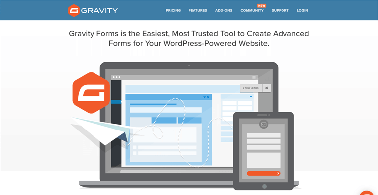 Advanced WordPress Form Plugin Gravity Forms