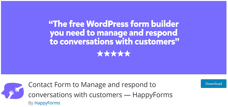 Happy Forms Free WordPress Form Plugin