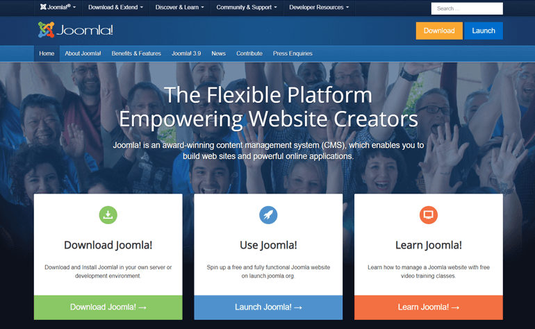 Joomla Popular CMS Software