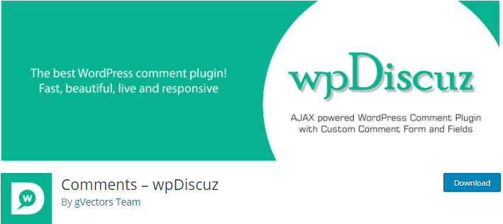 wpDiscuz WordPress Plugin for Blogs
