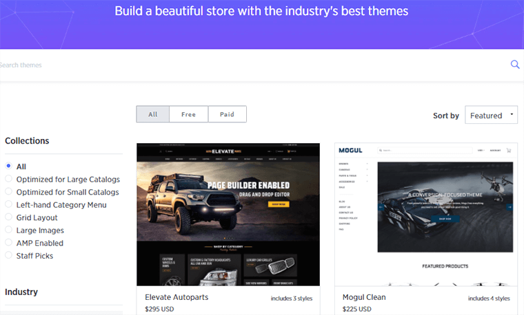 Themes Store of BigCommerce
