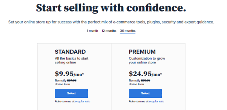 Bluehost Pricing for WooCommerce Store