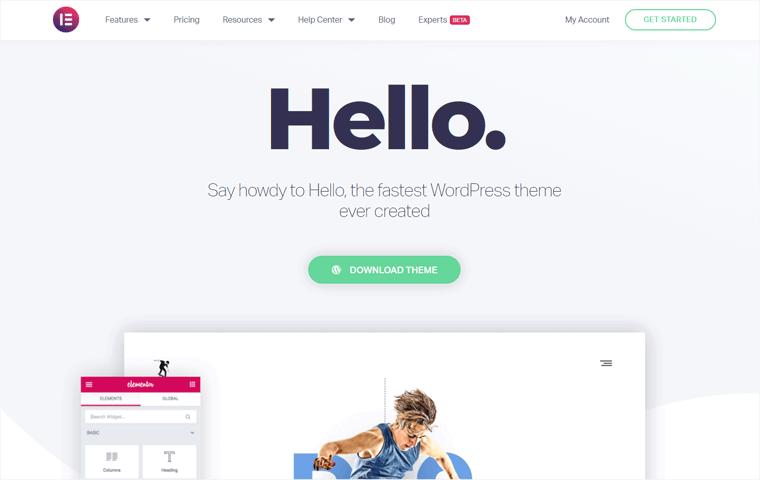 Hello Elementor Free WordPress Theme