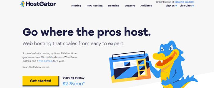 HostGator Web Hosting Home Page