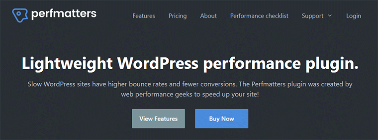 Perfmatters WordPress Site Cleaning and Code Minification Plugin