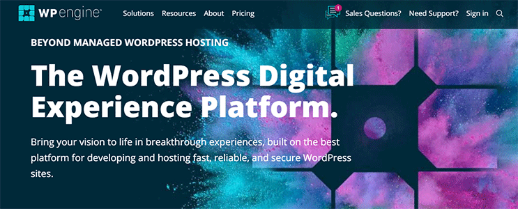 Wp Engine Web Hosting Home Page