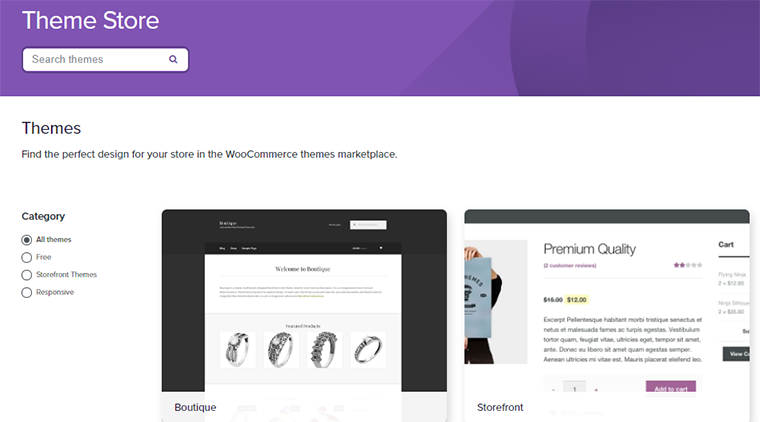 Themes Store of WooCommerce
