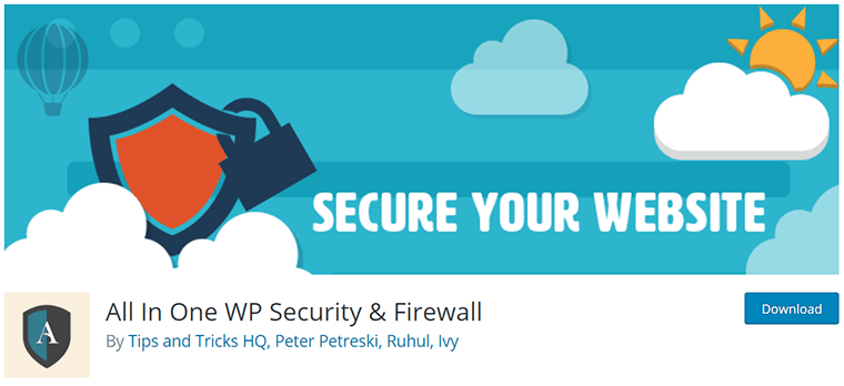 All in One WP Security & Firewall on WordPress.org