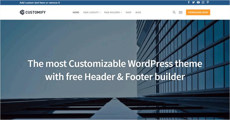 Customify Free WordPress Theme