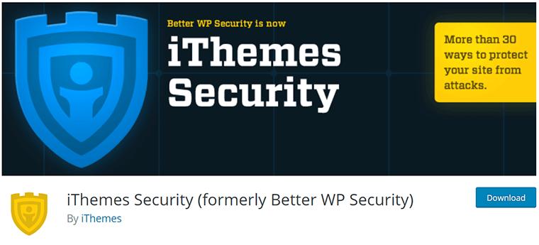 iThemes Security on WordPress.org