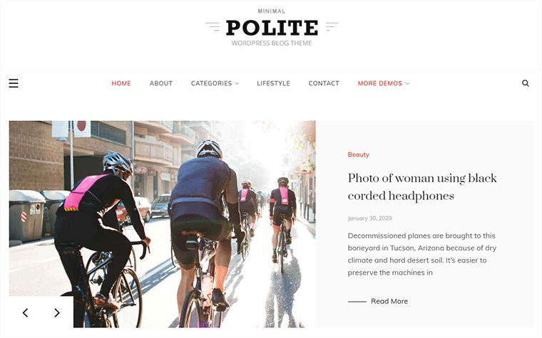 Polite Free WordPress Theme