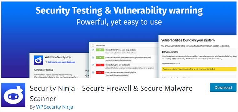 Security Ninja on WordPress.org