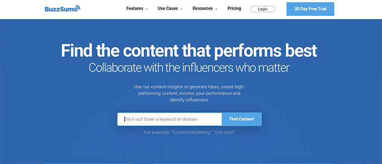 BuzzSumo - Best Digital Marketing Tool