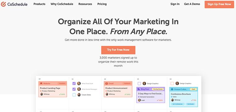 CoSchedule - Digital Marketing Tool