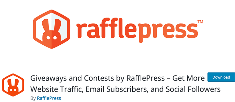 RafflePress - best giveaway WordPress plugin