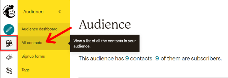 View All Contacts in Your Mailchimp Account