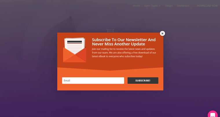 Email Popup Form Demo by Bloom Plugin