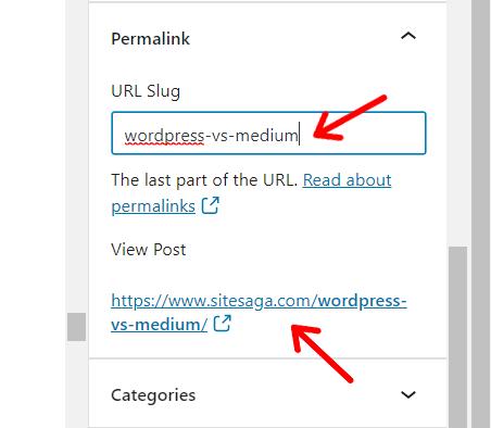 Editing Post Permalink (URL) in WordPress