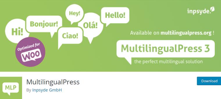 MultilingualPress WordPress Plugin for Multilanguage Stores