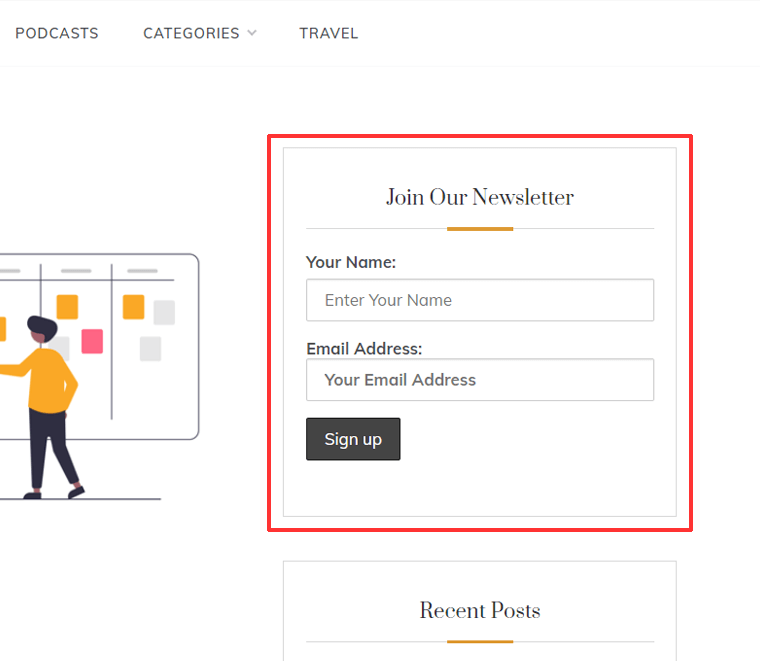 Email Sign-up Form Preview