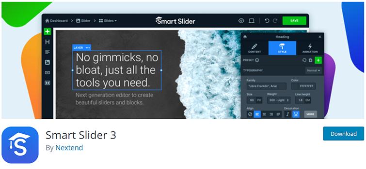Smart Slider 3 WordPress Slider Plugin