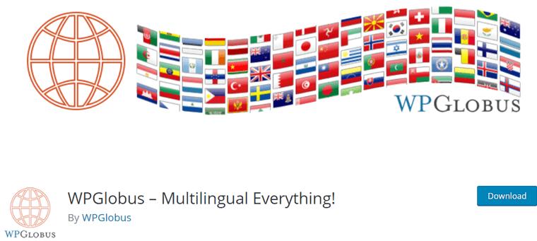 WPGlobus Free WordPress Multilingual Plugin