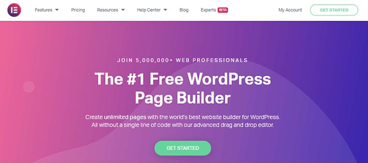 Page Builder Plugin Elementor