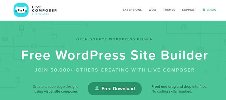 Page Builder Plugin Live Composer