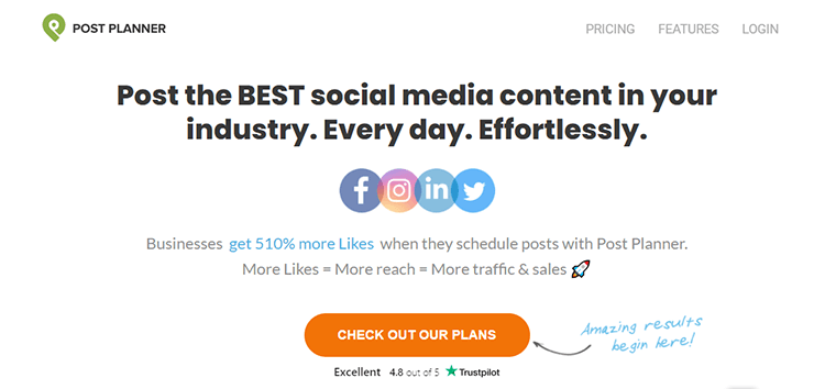 Post Planner social media posts scheduling tool