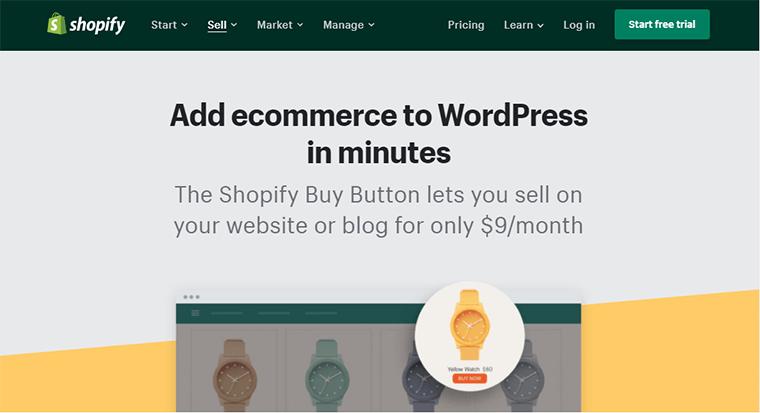 Shopify Buy Button for WordPress