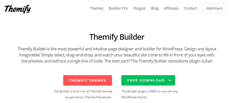 Page Builder Plugin Themify Builder