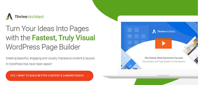 Page Builder Plugin Thrive Architect