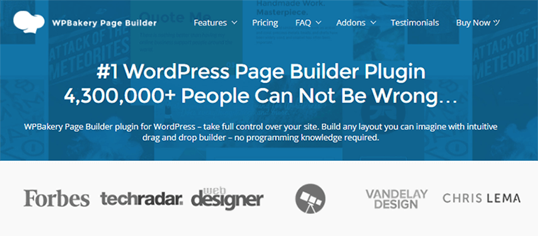 Page Builder Plugin WPBakery