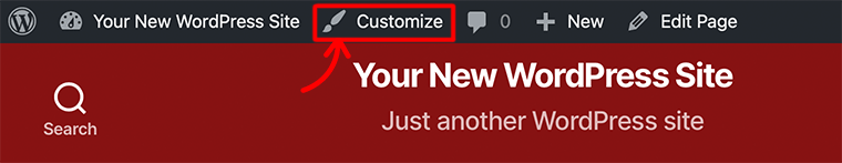 Access Customizer from your Site