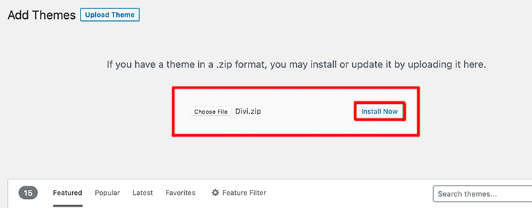 Choose File from your Computer