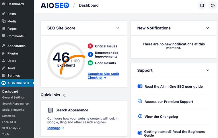 AIOSEO Dashboard