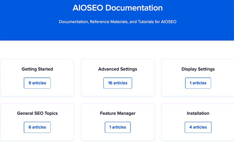 AIOSEO Documentation