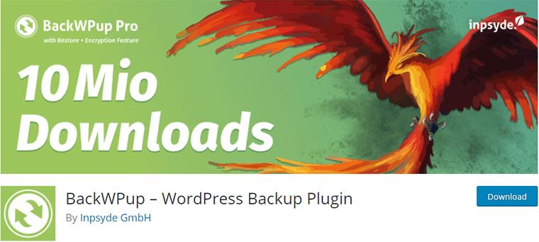 WordPress Backup Plugin BackWPup