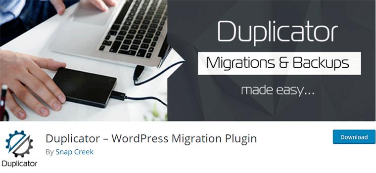 Duplicator Plugin for Site Migration