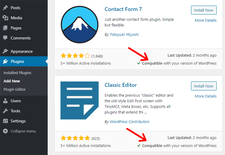 Plugin Compatibility with your WordPress Version