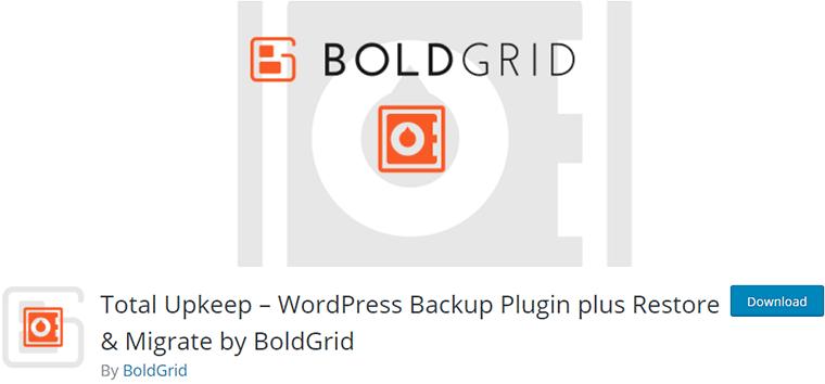 Total Upkeep WordPress Plugin