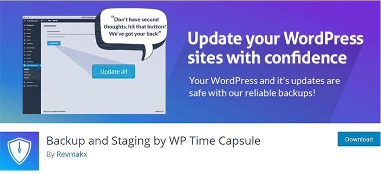 WPTimeCapsule WordPress Plugin for Site Backup