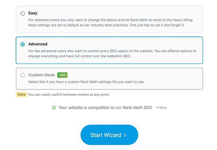 select user mode in Rank Math