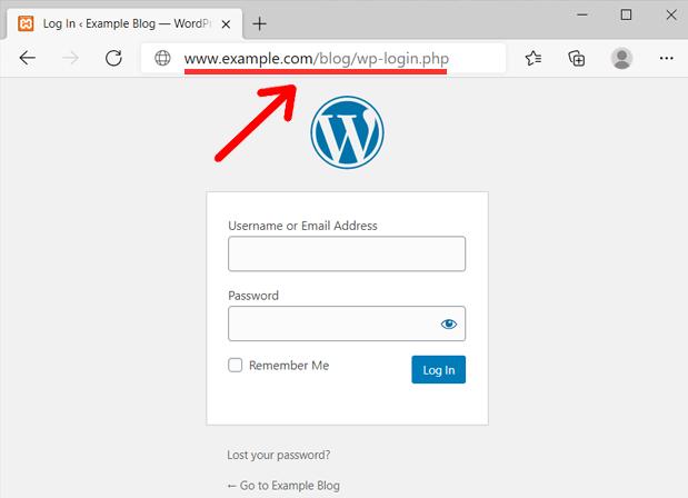 WordPress Login on a Subdirectory