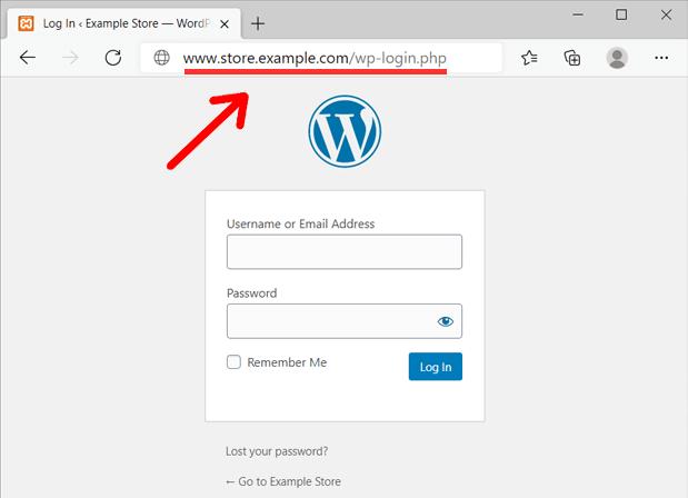 WordPress Login on a Subdomain