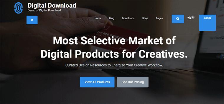 Digital Download WordPress Theme