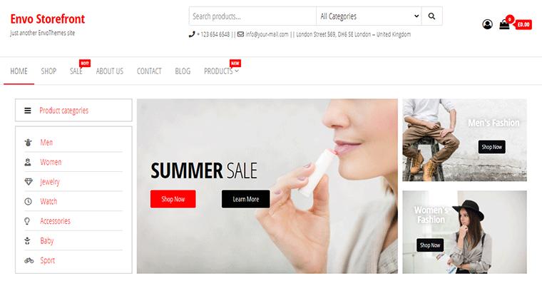 Envo Storefront eCommerce Theme