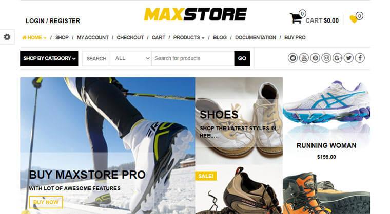 MaxStore eCommerce WordPress Theme Demo