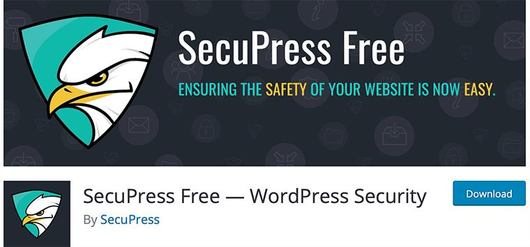 SecuPress WordPress malware scanning and removal plugin